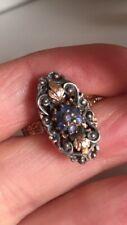 Antique Gold Ring Sapphire Antico Anello Zaffiri Oro 750