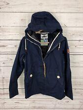 Penfield Hudson Wax 65/35 Hooded Jacket Blue Rain Resistant Full Zip Sz XS EUC