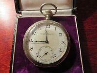 Tolle 800 Silber Taschenuhr Uhr Cortebert Watch Co Jugendstil Art Deco Schweiz