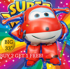 """33"""" HUGE SUPER WINGS balloons BIRTHDAY PARTY SUPERWING CAR PLANE SUPERWINGS"""