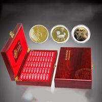 Redondo Expositor de Monedas Caja Almacenaje Colección Estuche para Certificado