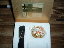 "Estee Lauder Solid Perfume Compact ""Kitten in Basket"" MIB"