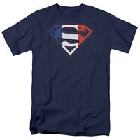 Superman French Shield T-Shirt DC Comics Sizes S-3X NEW