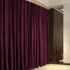 A Pair Vintage Style Velvet Curtains 2x280cmX230cm Drop,Purple AC228A