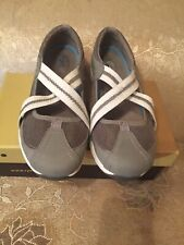 Kelly Ripa Ryka Comfort Canvas Slingback Sandal With Toe Goring Gray Size 9/5
