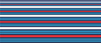 "Car Motorbike Stripes Exterior Vinyl Decal Martini Racing Style Tape 1.5"" 38mm"