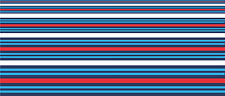 "Car Motorbike Stripes Exterior Vinyl Decal Martini Racing Style Tape 3"" 76mm"