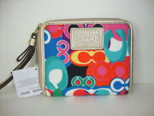 "New Coach Daisy poppy ""C"" Print  MD zip Around F48095 wallet"