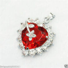 hot Genuine Jewelry red Necklace Pendant Free Chain