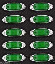 10 x 6 LED 12V VERDE lato cromo luci di INGOMBRO PER AUTO SUV PICK-UP AUDI VW