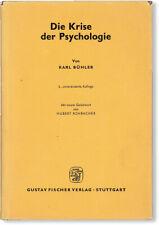 Karl Bühler DIE KRISE DER PSYCHOLOGIE - 1st ed 1965, Fine/DJ - Psychotherapy