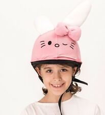 Kitty bunny helmet cover - ideal for any kid size helmet for 14 different sports