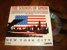 NEW YORK CITY THE SOUNDS OF SIMON FRENCH MAXI CD SINGLE CARRERE REMIXES