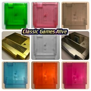 NES Replacement Case Cart Shell - Transparent COLOR, Gold, Sliver (Raspberry Pi)