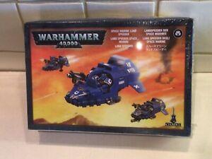 Games Workshop Warhammer 40K Space marine Landspeeder sealed and Boxed