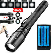 950000Lumens Tactical Military Police T6 LED Flashlight Rechargeable Torch Light