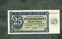 BILLETE 25 PESETAS 1936 SERIE Q1480929  SC