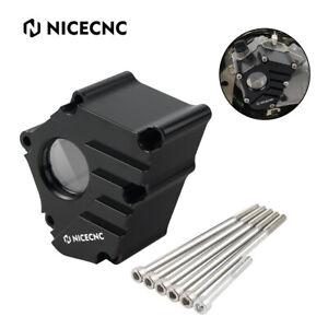 NiceCNC Oil Case Cover Clear Oil Cover Window For Yamaha YFZ450R 2014-2021