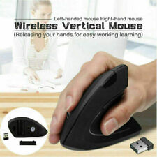 Wireless Vertical Mouse Ergonomic Micro USB Rechargeable Computer Gaming Mice