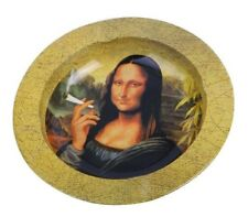 Mona Lisa Weed Cannabis Marijuana Metal Cigarette Cigar Ashtray