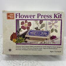 VINTAGE 70s Flower Press Kit With Instruction Leaflet & Box John Adams Toys