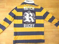 Rare! Ralph Lauren Rugby polo shirt long sleeve Embroidered Player Match Medium