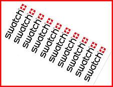 SWATCH Swiss Watch Uhren - Original Aufkleber Stickerbogen / weiß