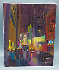"Hall Pierce Groat II ""New York. Times Square, NYC"" Oil on Canvas Painting"