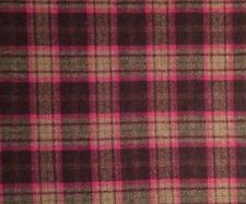 OSBORNE & LITTLE Lomand Check wool pink brown new remnant