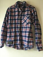 The Vermont Flannel Co Mens X-Small Long Sleeve Button Up Shirt Red White Blue
