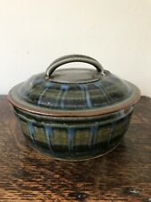 David Eeles Shepherds Well, Studio Pottery Round Lidded Dish- Beautiful!