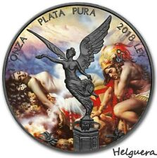2018 1 Oz Silver HELGURA, The Legend Of The Volcanos LIBERTAD Ruthenium Coin.