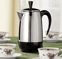 Farberware Percolators Stainless Steel Coffee Maker 1000-watt SIZE 2-4-8-12 CUPS