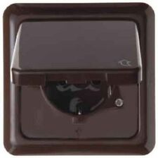 BERKER 471801 Schuko Outlet Hinged cover and frame uP IP44 braun glossy