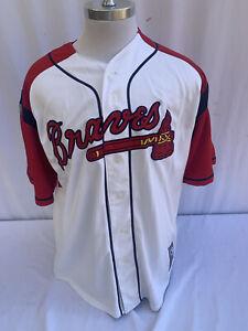 Majestic Atlanta Braves Baseball Jersey Shirt Embroidered Men's Large