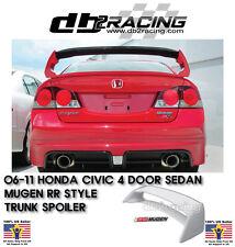 06-11 Civic 4dr Mugen RR Rear Trunk Spoiler Wing (ABS) + Mugen Emblem JDM