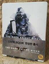 THE DARK KNIGHT RISES Blu-Ray 2-Disc KOREA Exclusive Ltd STEELBOOK White Version