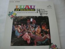 luau at waikiki RECORDED LIVE AT THE HILTON HAWAIIAN VILLAGE VINYL LP 1964 RCA