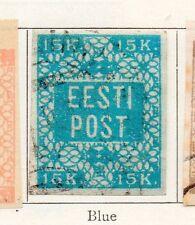 Estonia 1919 Early Issue Fine Used 15k. 170968