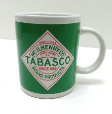 Tabasco Hot Sauce Coffee Tea Cup Mug McIlhenny Co.Brand Green Logo  Avery Island