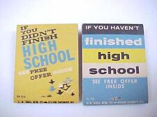 Vintage 1950's AT HOME HIGH SCHOOL COURSE  Matchbook Matches  NoS