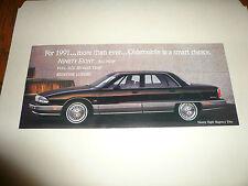 1991 Oldsmobile Trofeo Toronado 98 88 Cutlass Sales Brochure