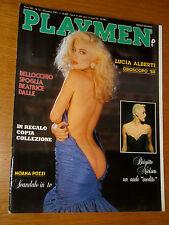 PLAYMEN 1987/12=MOANA POZZI=BEATRICE DALLE LA VISIONE DEL SABBA MARCO BELLOCCHIO