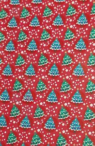 """Christmas Trees FAUX LEATHER SHEET 8.5"""" X 11.5"""" 22X30CM WHOLESALE PRINTED A4"""