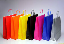 More details for coloured paper bag twist handle party gift carrier / bags with handles - medium