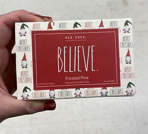 Rae Dunn 2021 BELIEVE Frosted Pine Gnome Hand Body Soap Bar 8oz NEW