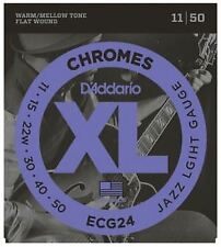 D'Addario ECG24 Chromes Flat Wound Electric Guitar Strings - 11-50