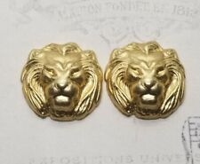 Stampings (2) - Rat132 Small Raw Brass Lion Head