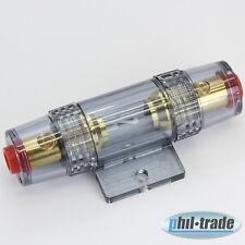 premium Kabel Sicherung Halter 60A komplett für Endstufe Verstärker bis 16mm²