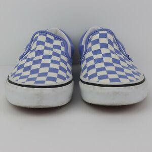 Vans Slip On Blue and White Checkered Canvas US Men's Size 6 Women's 7.5
